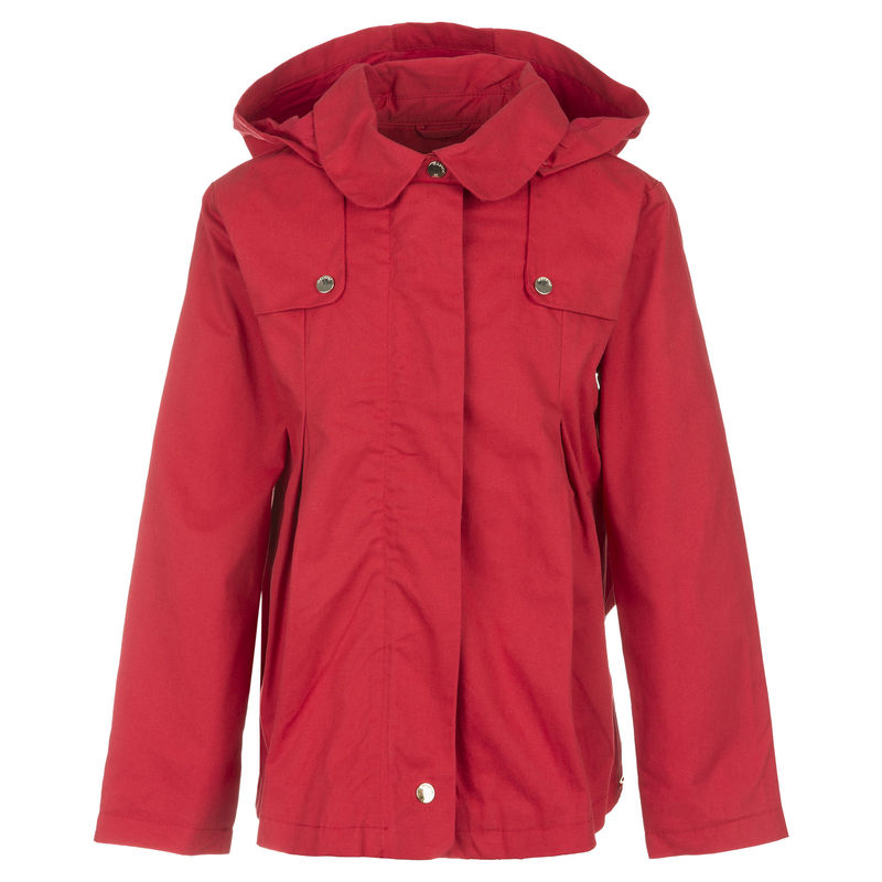 Куртка красная с капюшоном