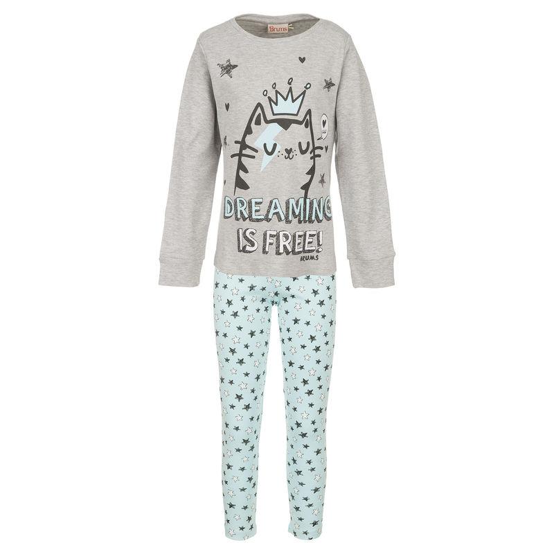 Пижама бирюзово-серая