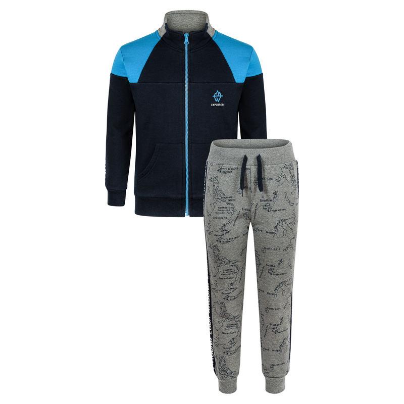 Спортивный костюм (толстовка и брюки) темно-синий