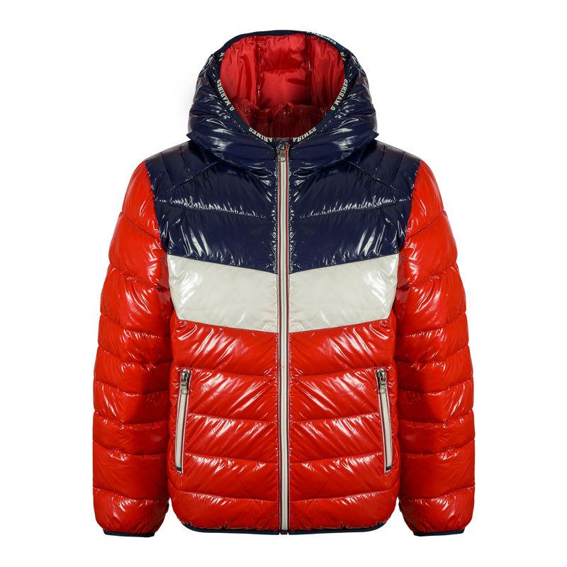 Куртка с капюшоном красная