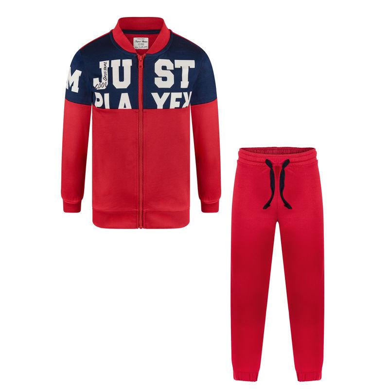 Спортивный костюм (толстовка и брюки) красный