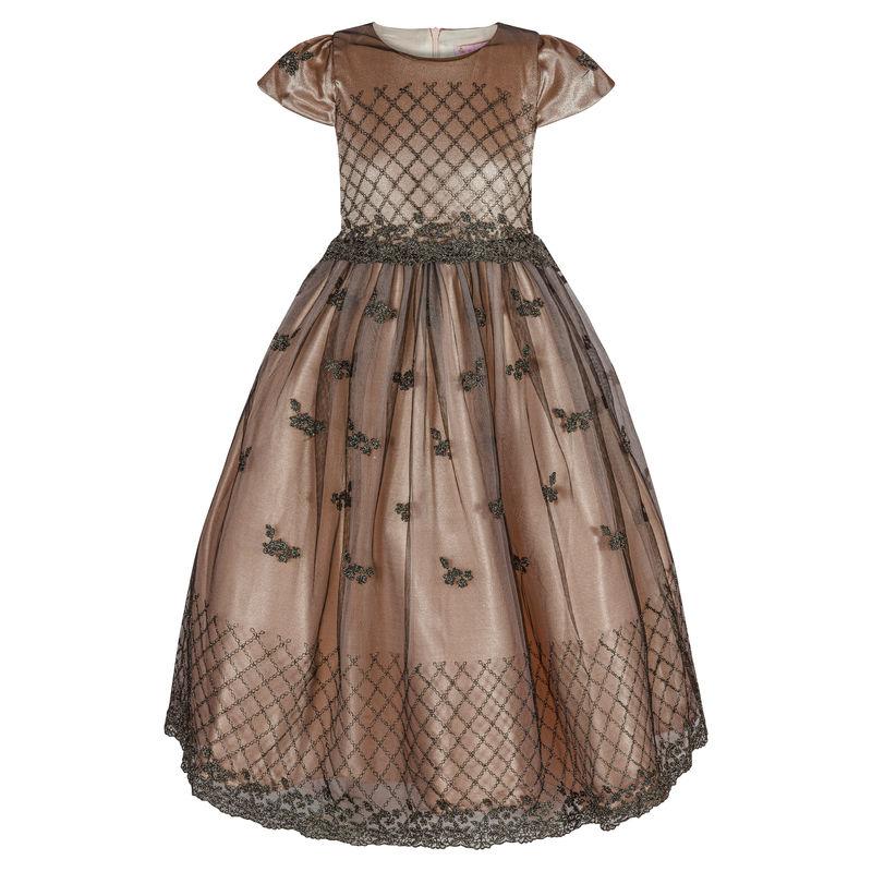 Платье черное/чайная роза