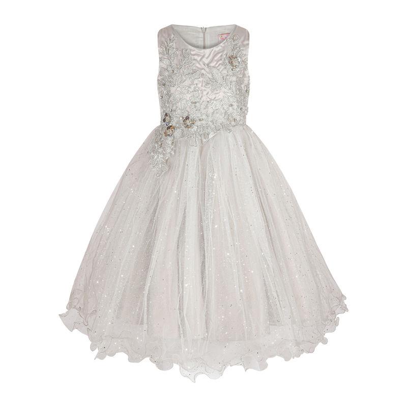 Платье серебрянное