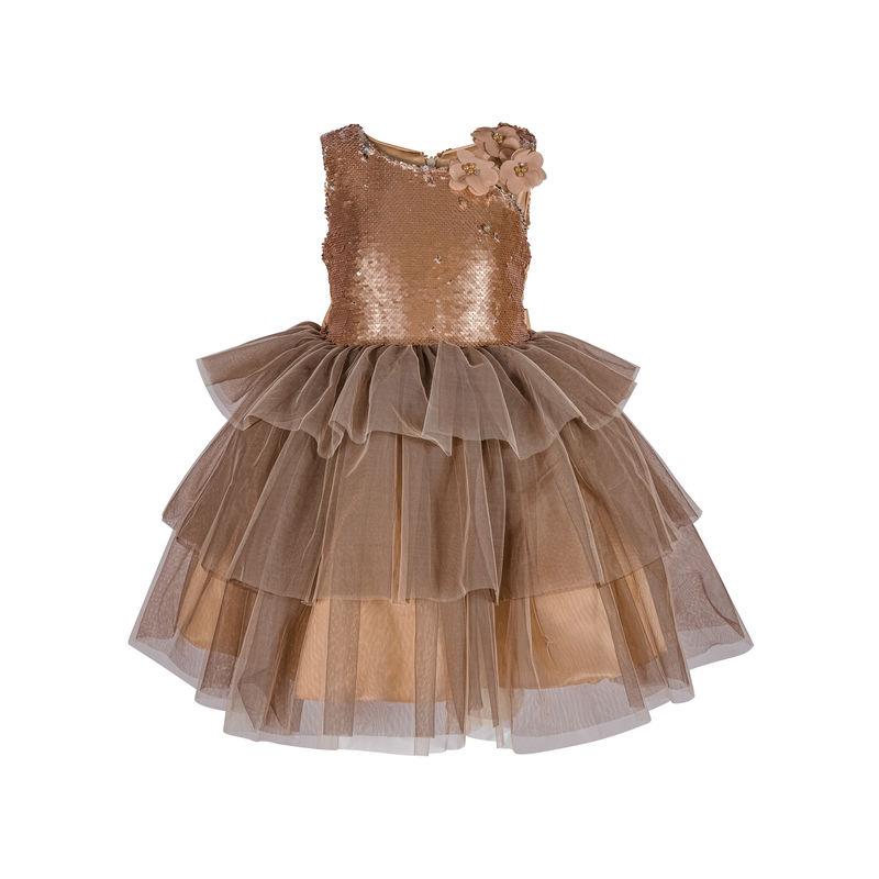 Платье пепел-кофе