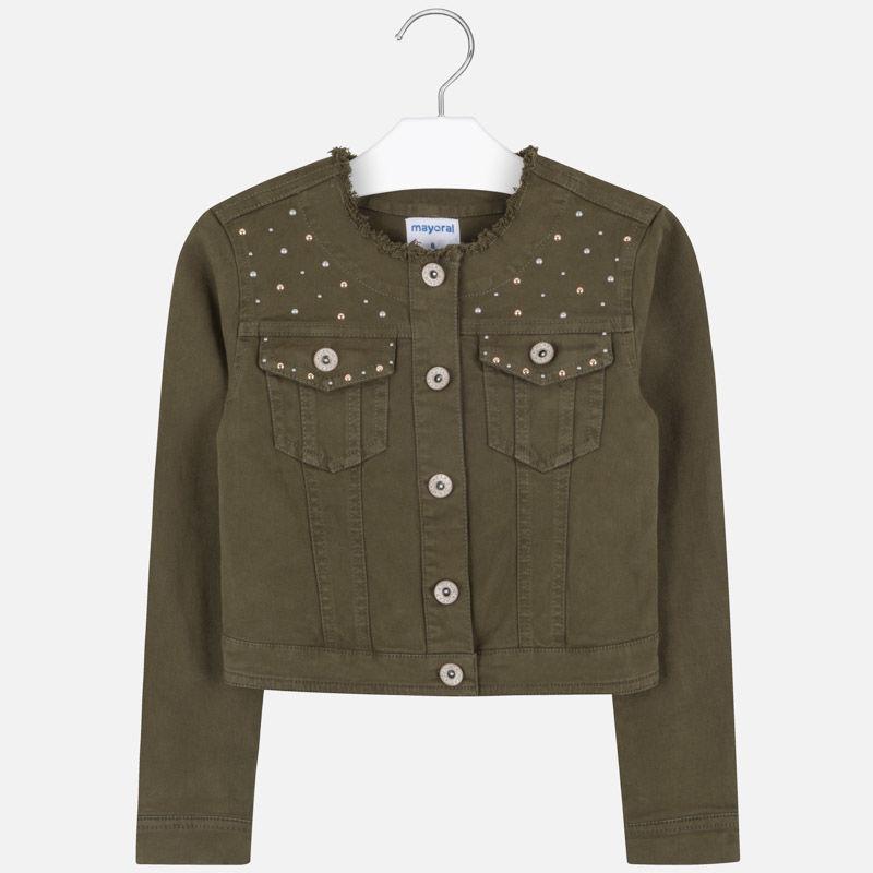 Джинсовая куртка темно-зеленая