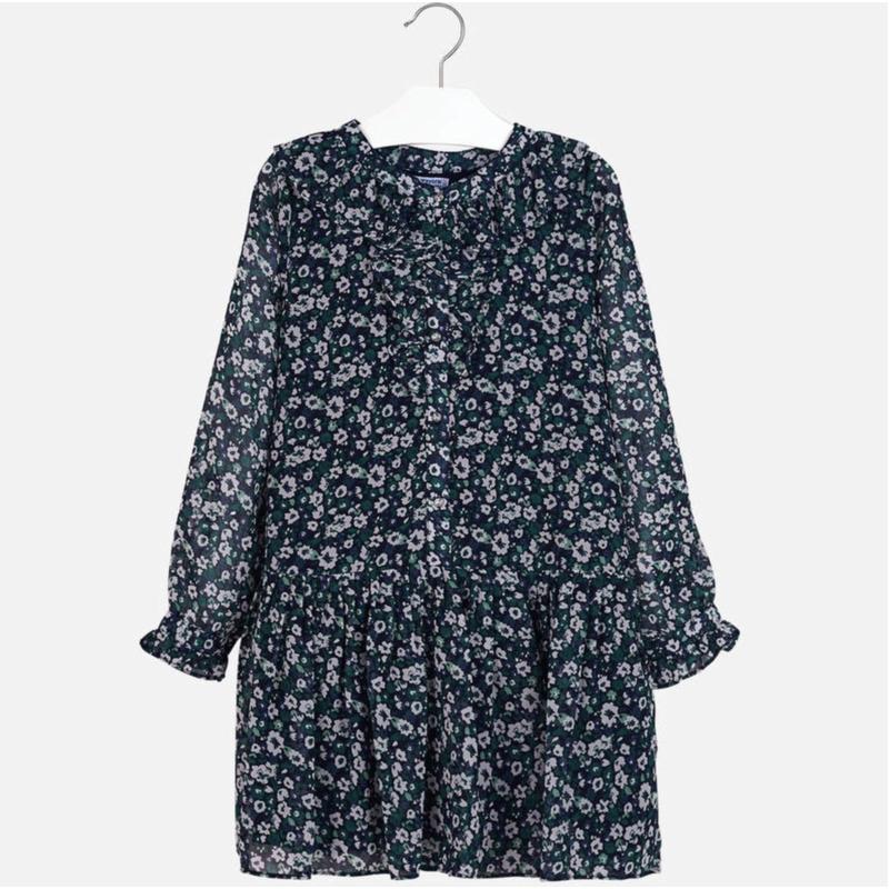 Платье шифоновое с цветочным принтом