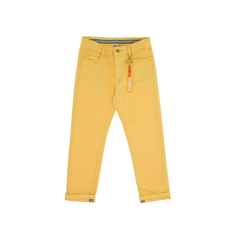 Джинсы желтые
