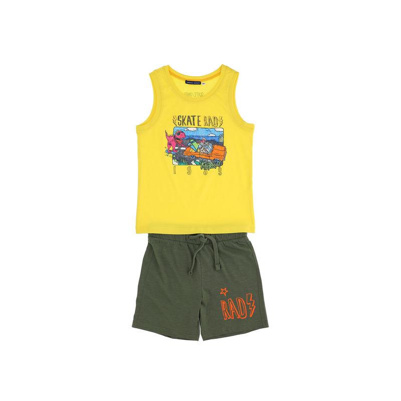 Комплект желтый: майка и шорты