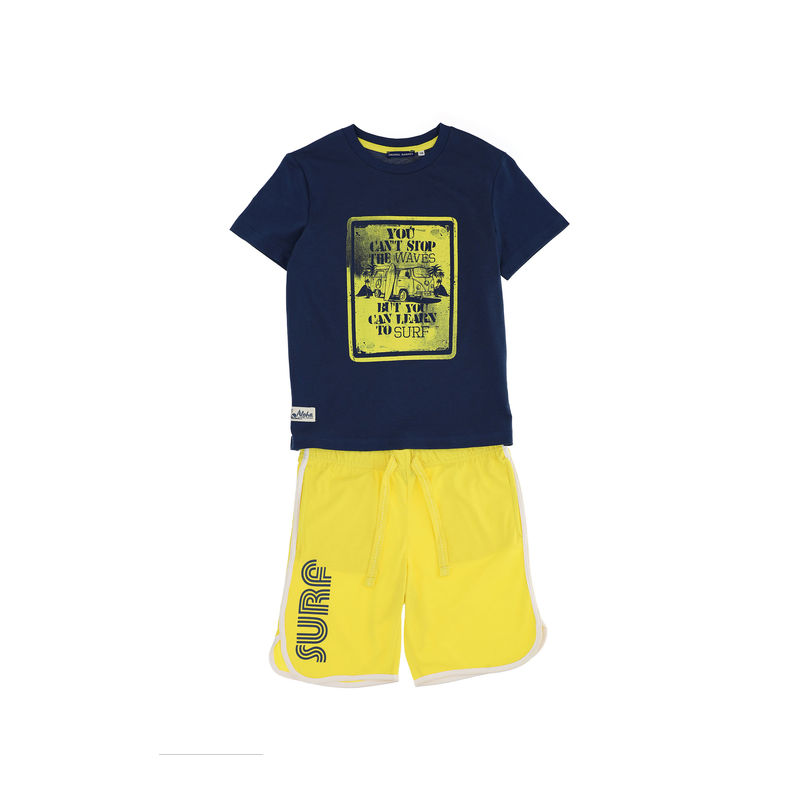 Комплект синий: футболка и шорты