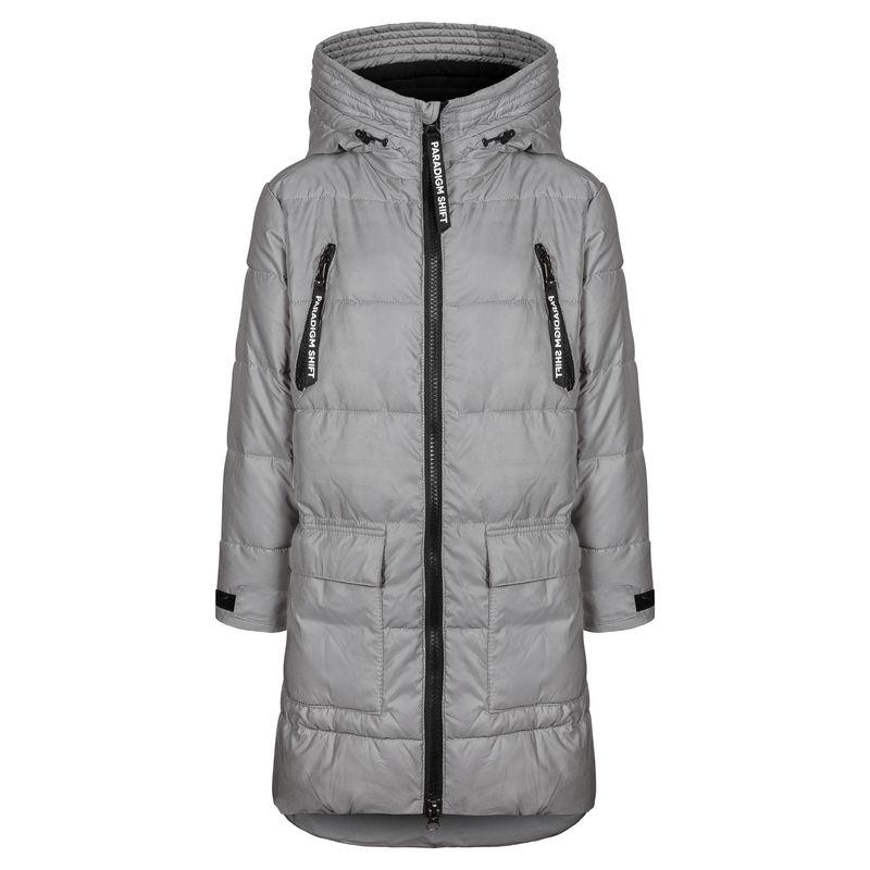 Пальто серое, отражающее свет