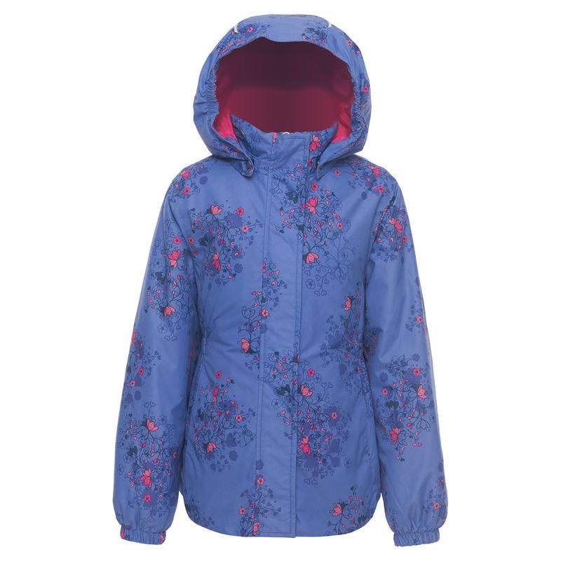 Куртка сиреневого цвета с рисунком