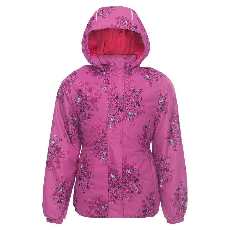 Куртка сиреневого цвета с принтом