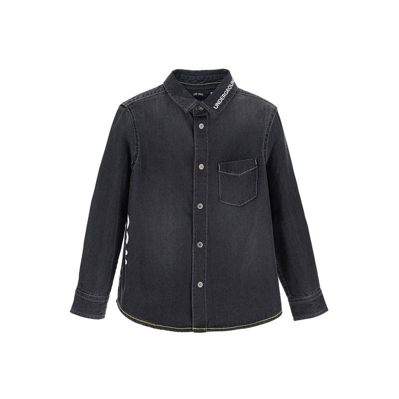 Рубашка чёрная