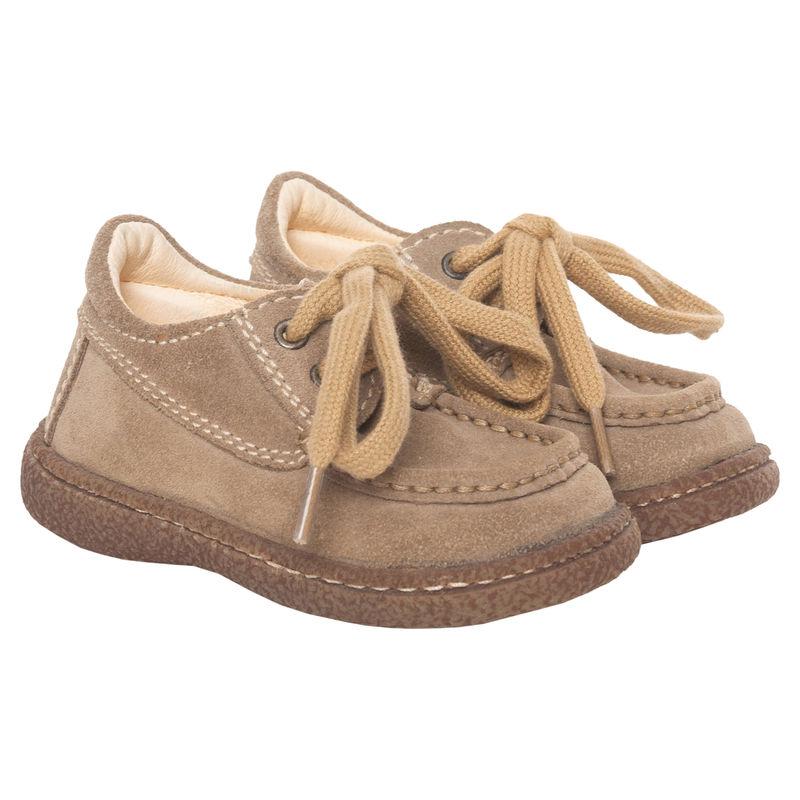 Ботинки бежевые на шнурках
