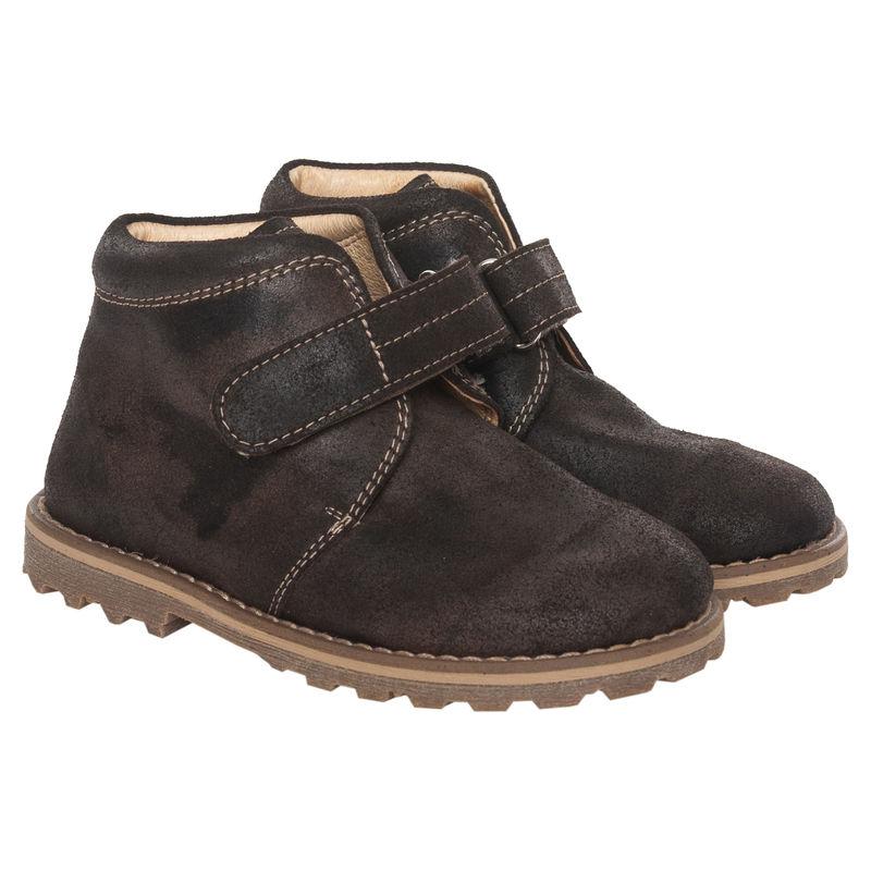 Ботинки тёмно-коричневые