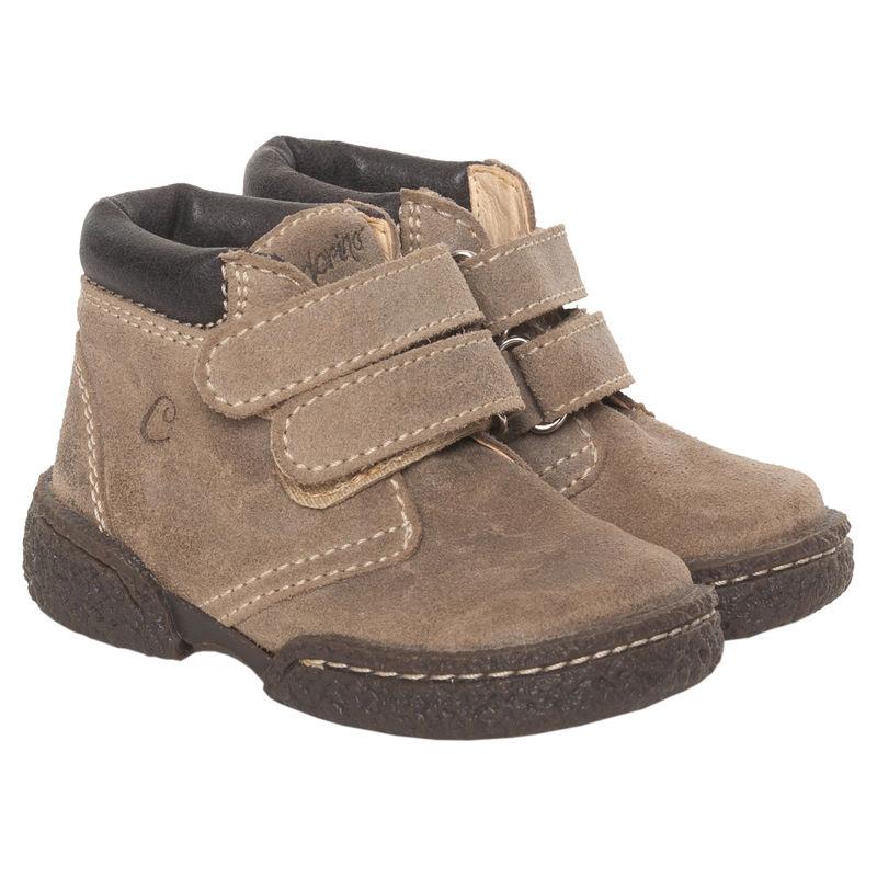 Ботинки коричневые на липучках