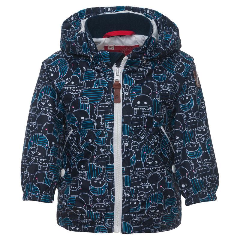 Куртка тёмно-синяя с рисунком
