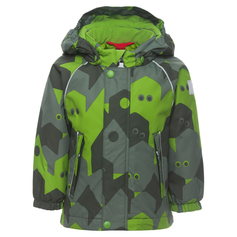 Куртка зелёная с камуфляжным рисунком