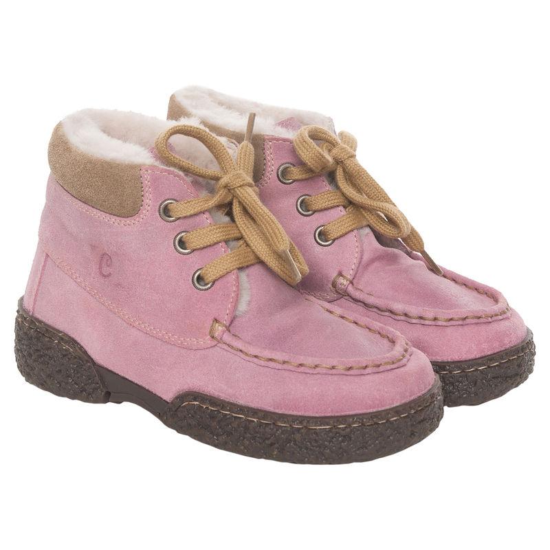 Ботинки розовые на меху