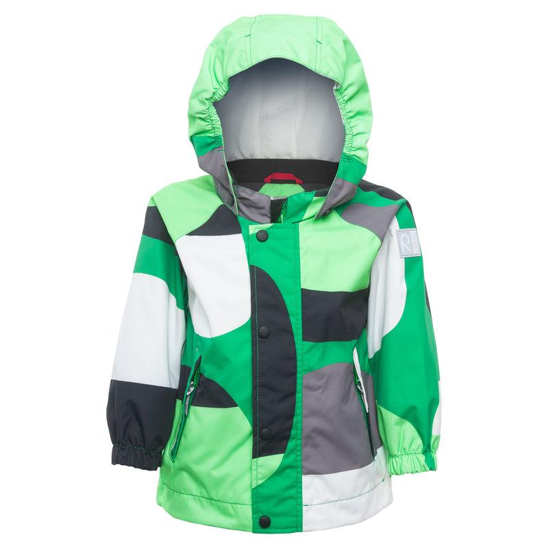 Куртка зелёная с графическим рисунком