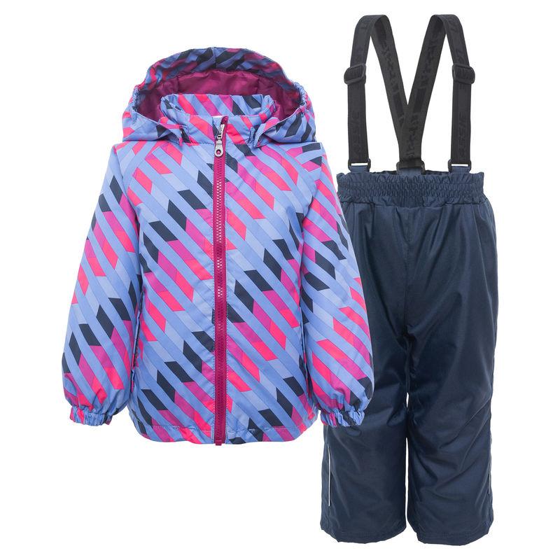 Комплект сиреневого цвета: куртка и полукомбинезон