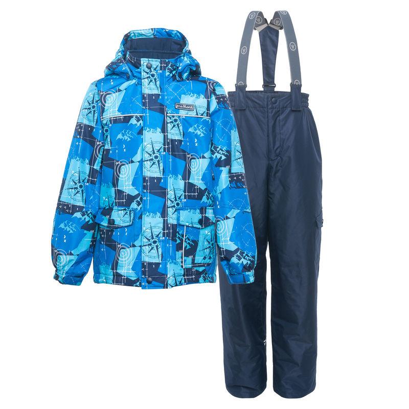 Комплект синий: куртка и полукомбинезон