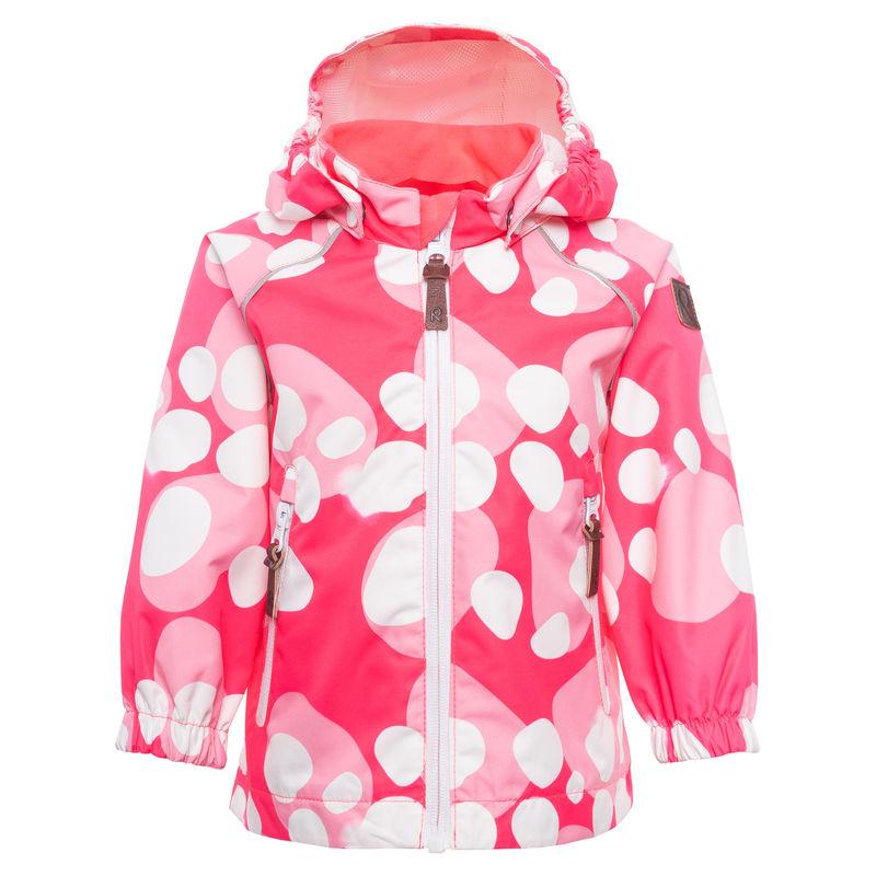 Куртка розовая с принтом