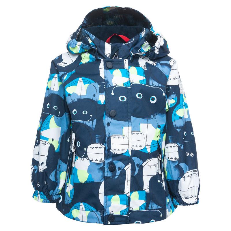 Куртка синяя с принтом