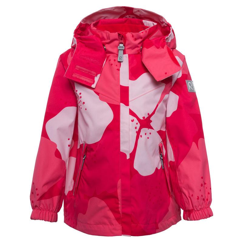 Куртка цвета фуксия с принтом