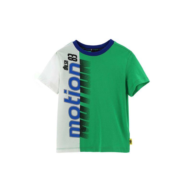 Футболка зелёная с принтом