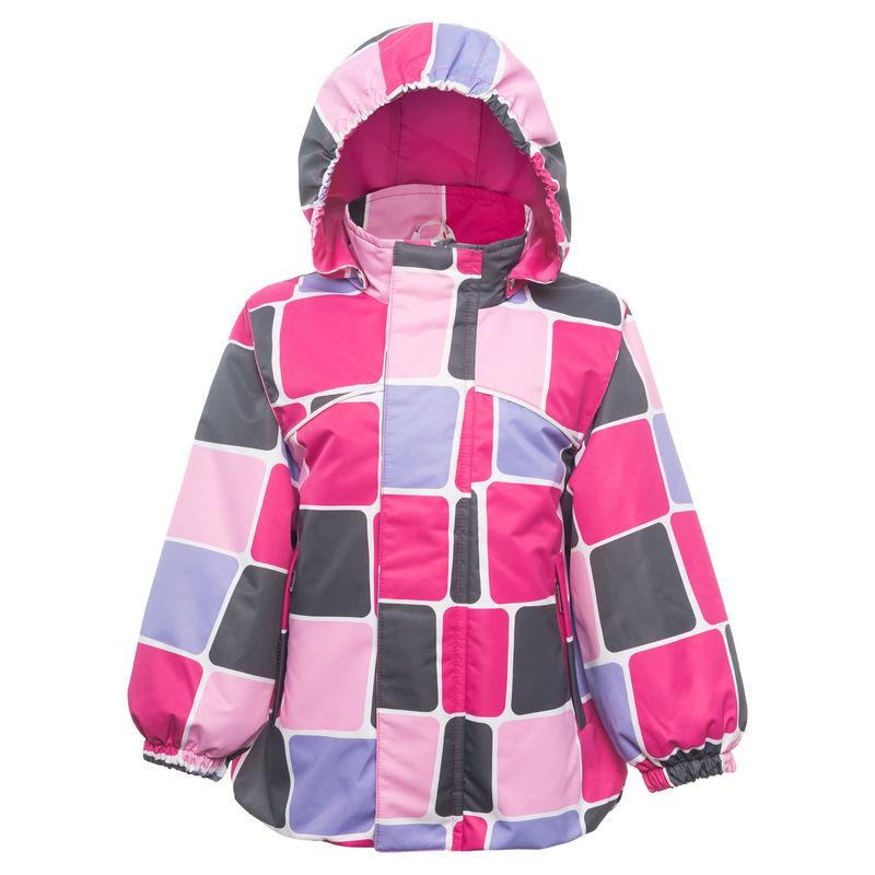Куртка розовая в клетку