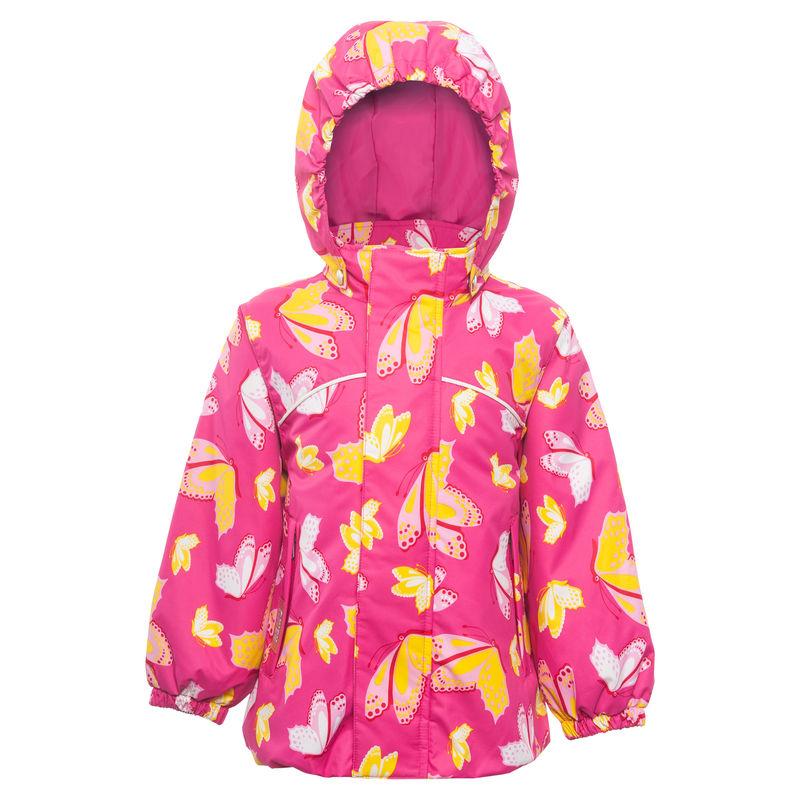 Куртка ярко-розовая с принтом
