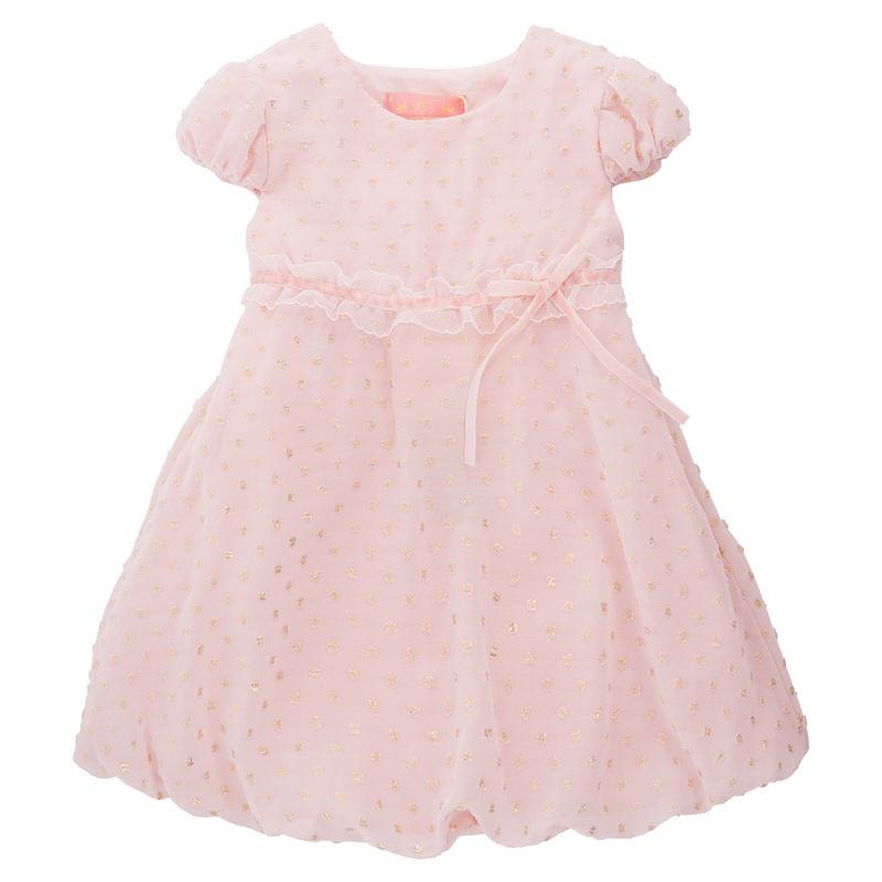 Платье нарядное с воланами и кружевом