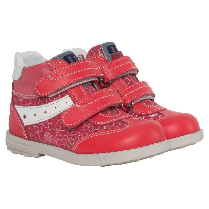 Ботинки красные на липучках