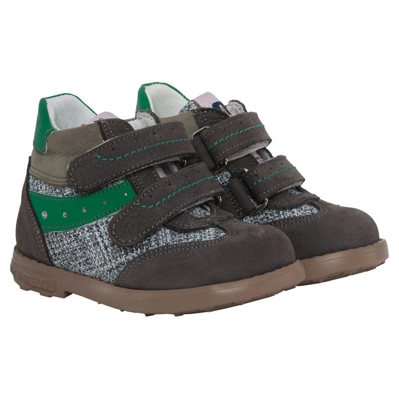 Ботинки зелёные на липучках