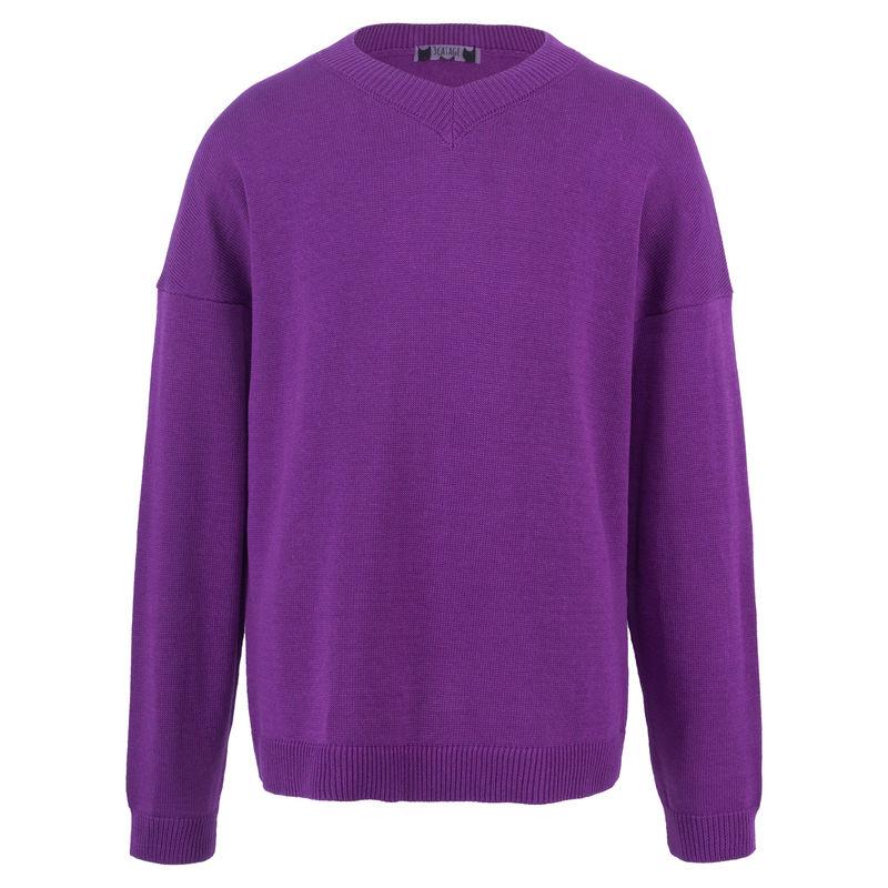 Пуловер фиолетового цвета