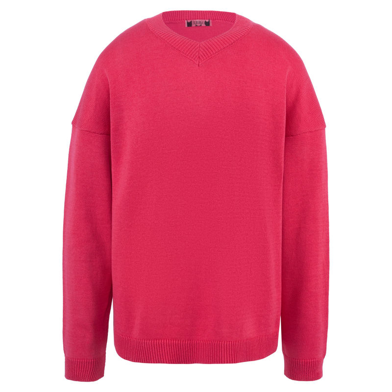 Пуловер кораллового цвета