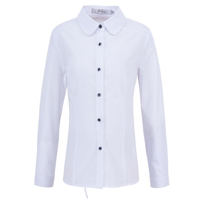 Блузка белая с брошью