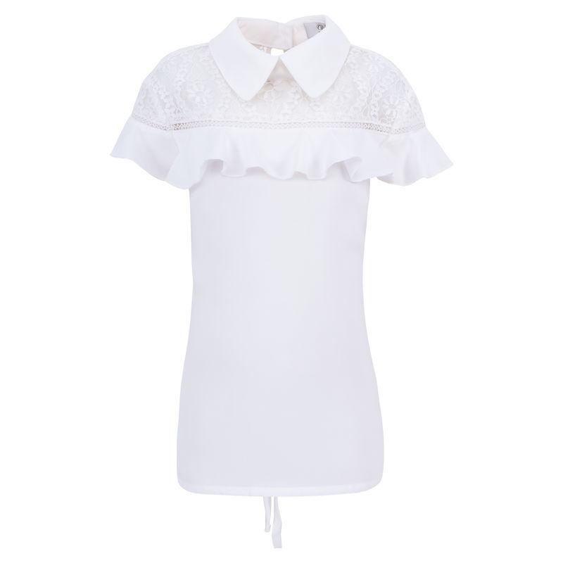 Блузка молочного цвета с коротким рукавом