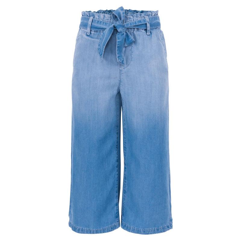 Кюлоты джинсовые с поясом
