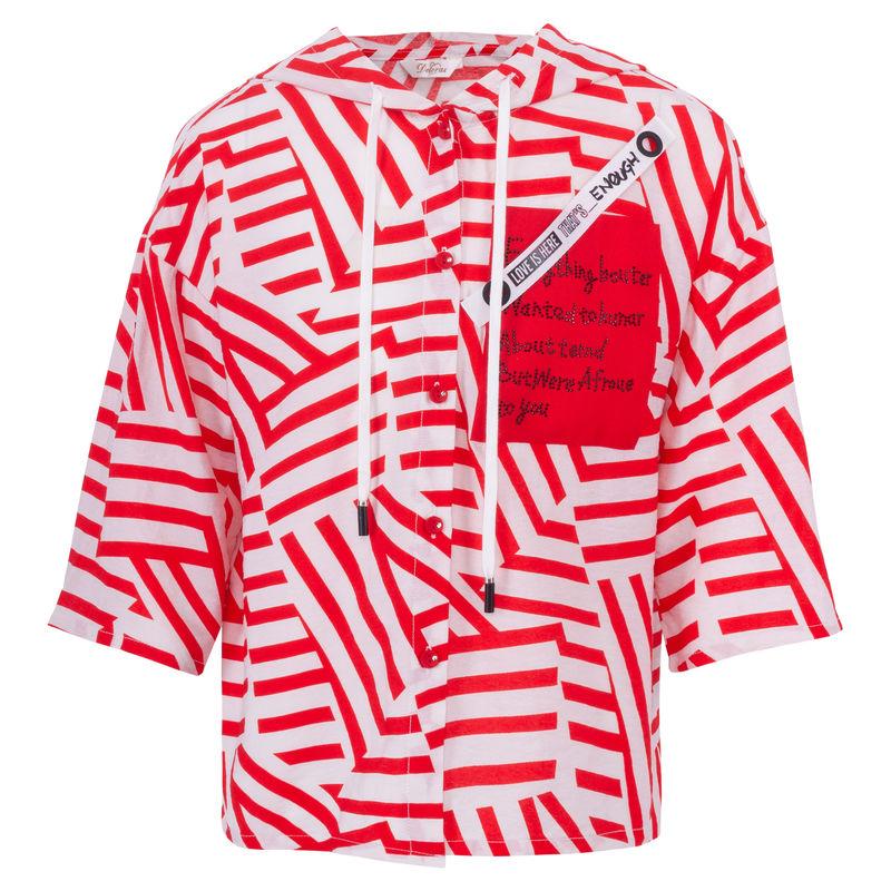Блузка красная с рисунком