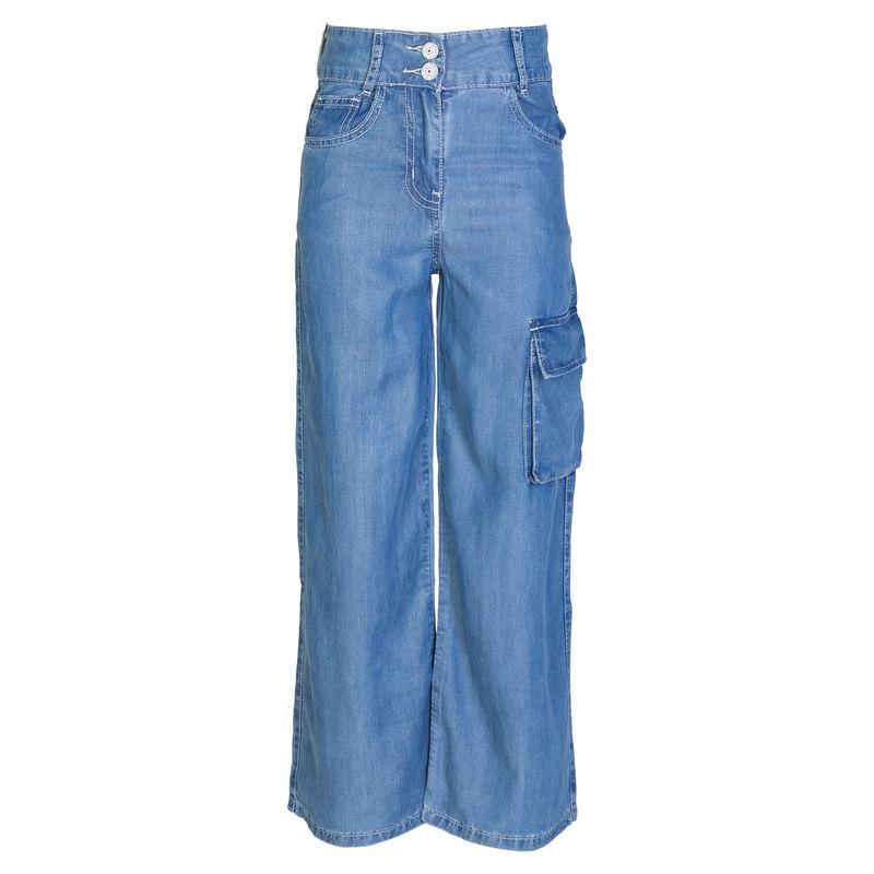 Кюлоты джинсовые синие