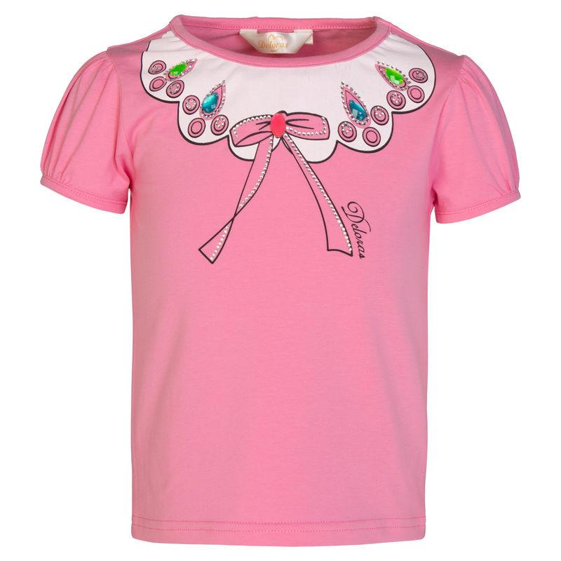 Футболка розовая с принтом
