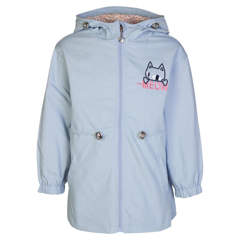 Куртка голубого цвета с принтом