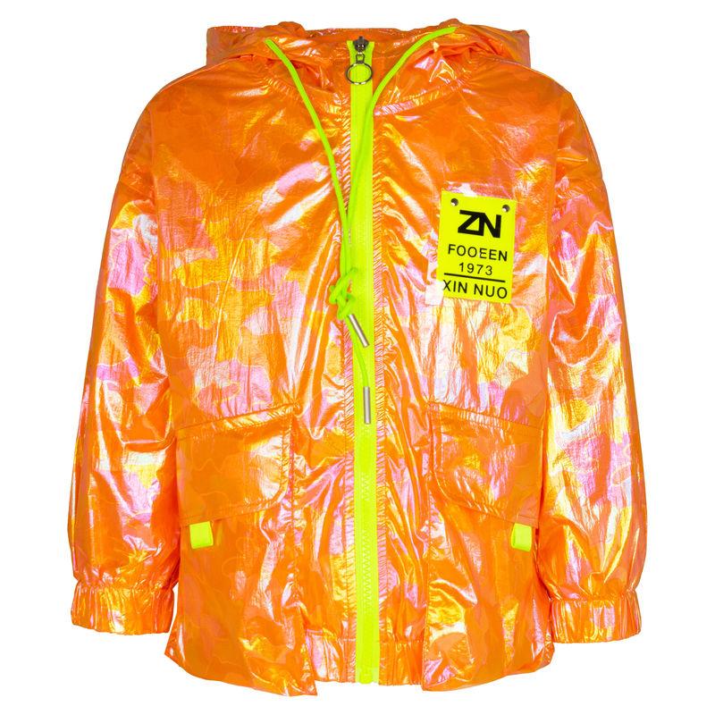 Ветровка неоново-оранжевого цвета