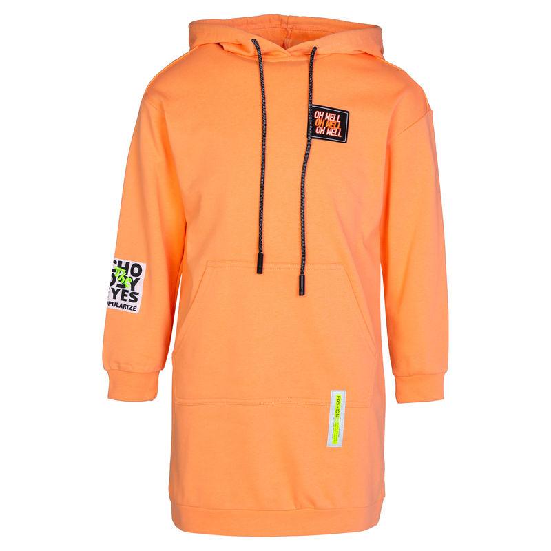 Платье ярко-оранжевого цвета