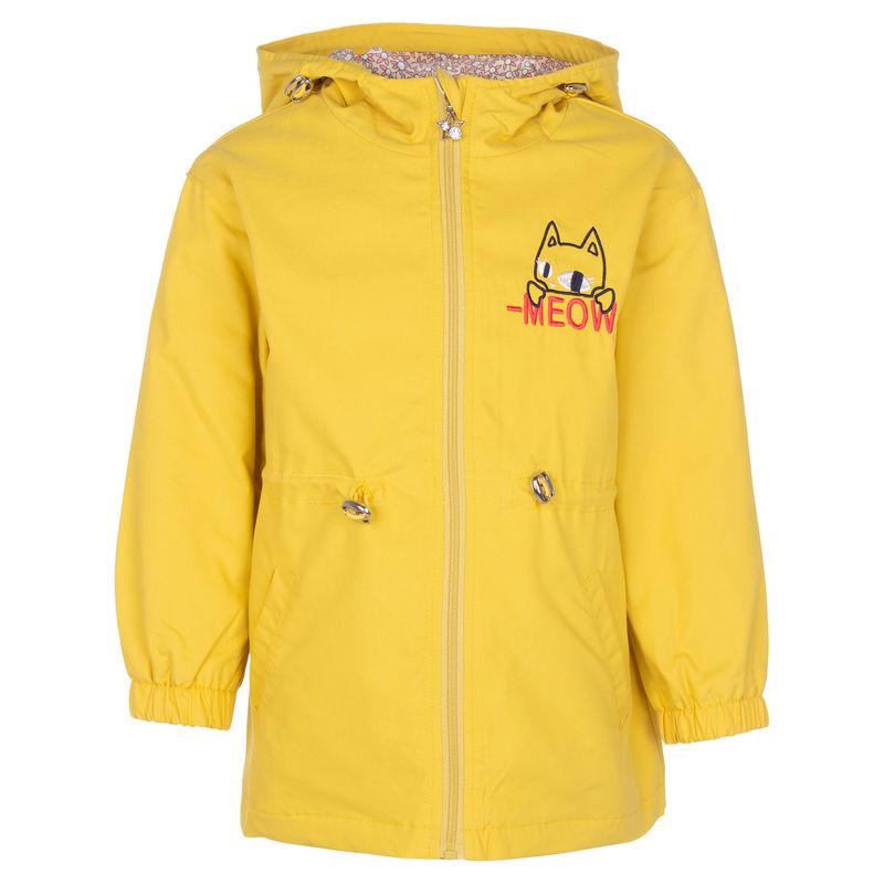 Куртка желтого цвета с принтом
