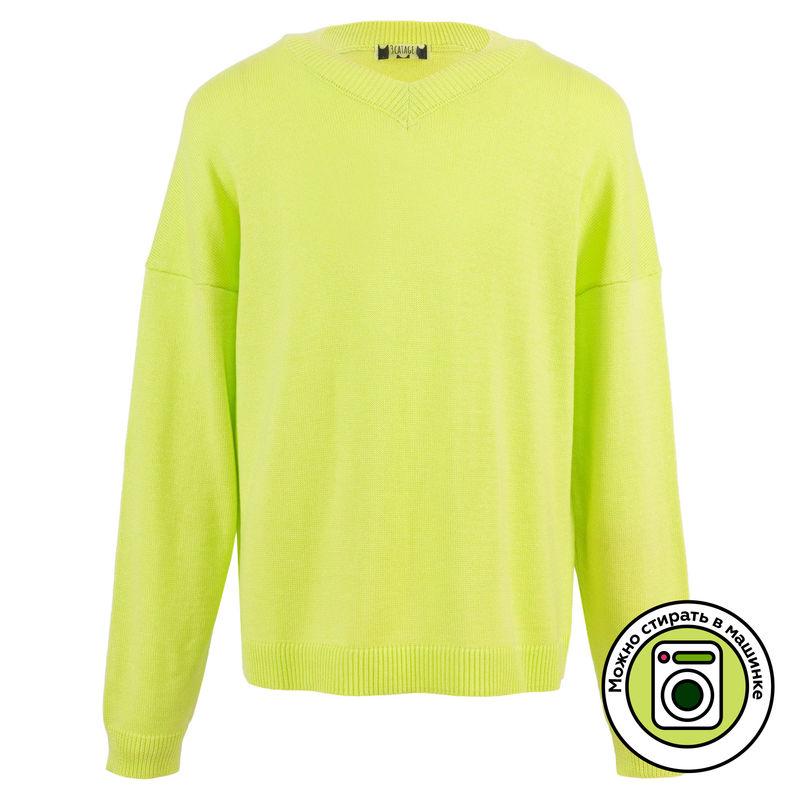 Пуловер лаймового цвета