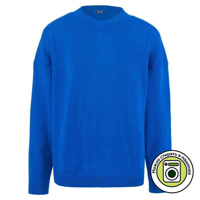 Пуловер ярко-синий