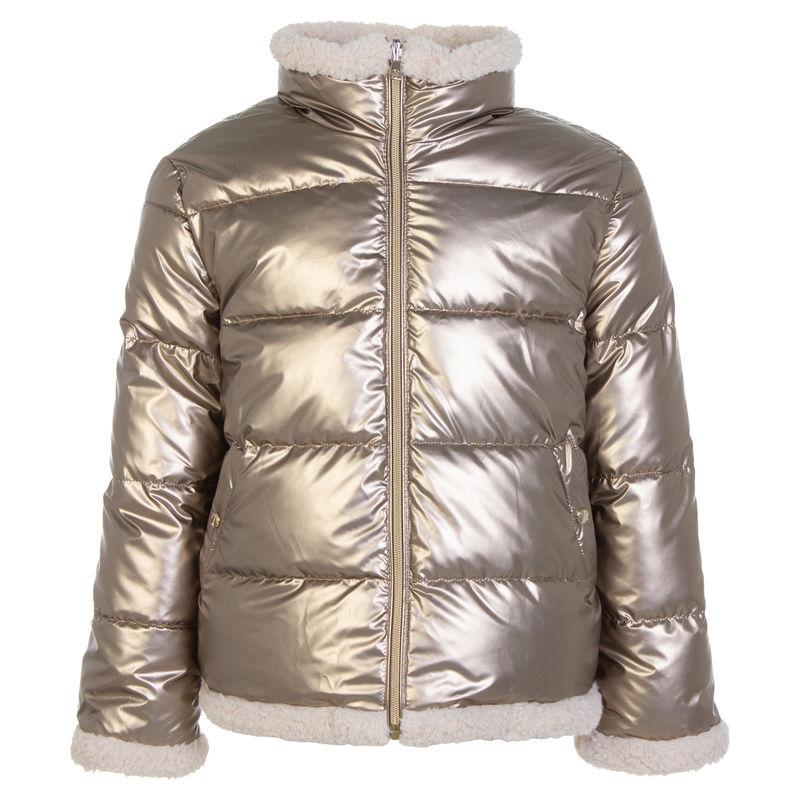 Куртка двусторонняя бронзового цвета